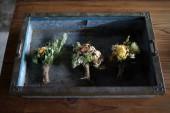 棚橋祐介さんの器とCaro Angeloさんのお花の展示