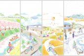 ビワイチ 自転車活用推進フォーラム フライヤーデザイン